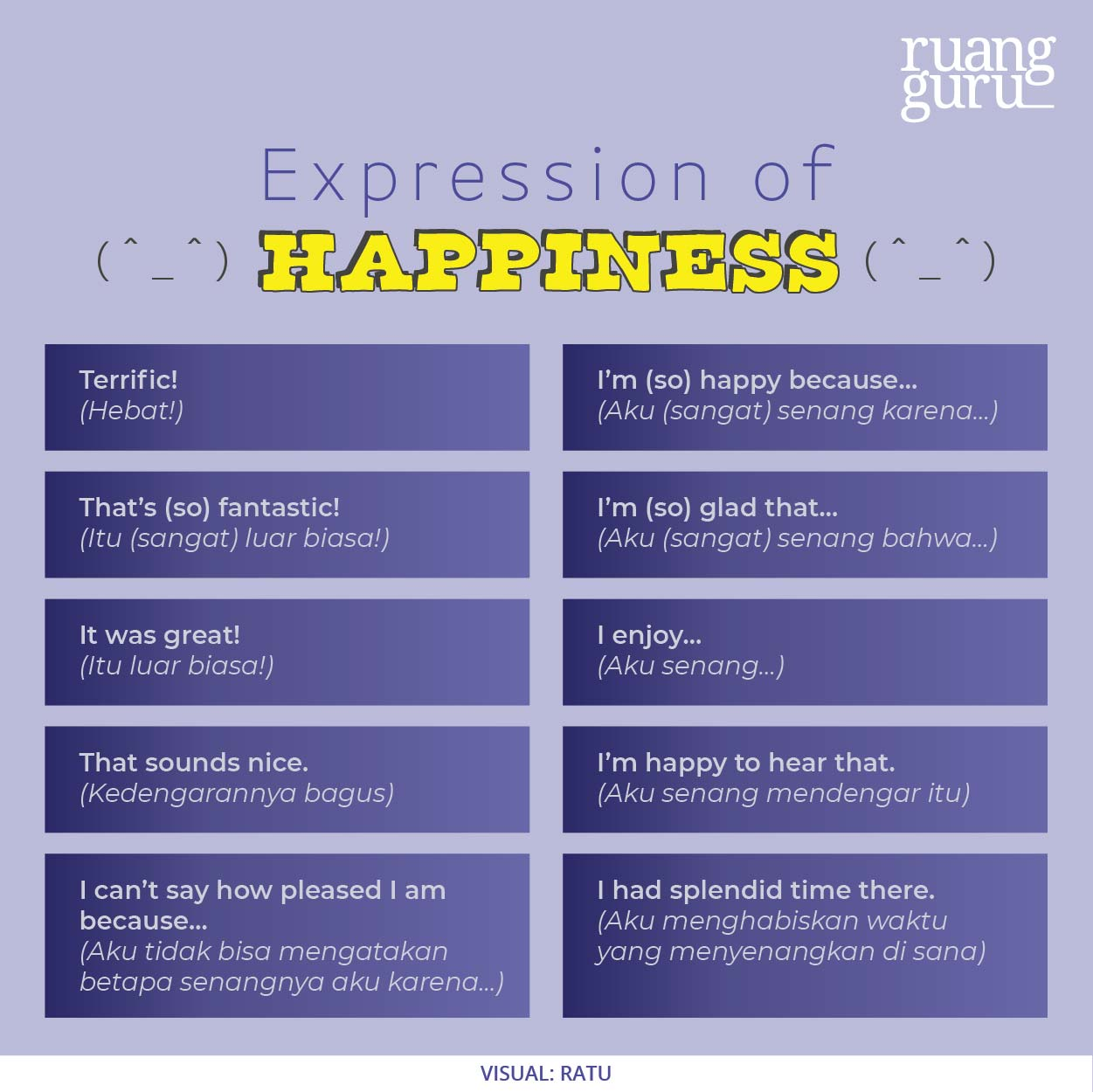 list box dari expression of happiness