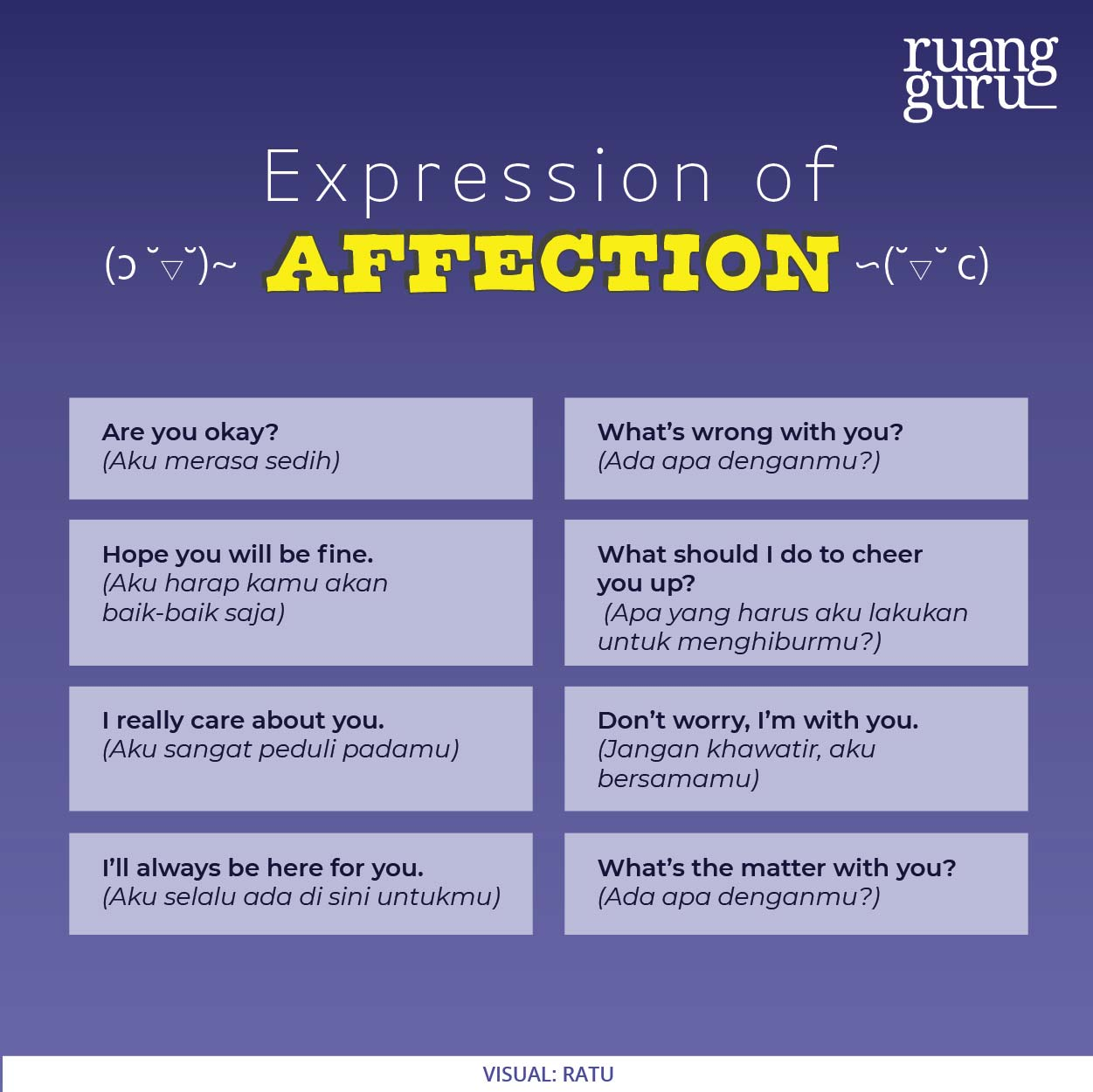 expression of affection