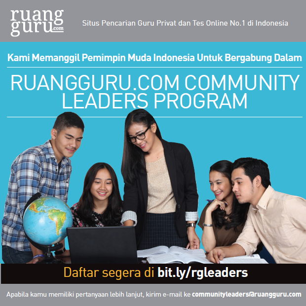 Ruangguru.com Community Leaders Program