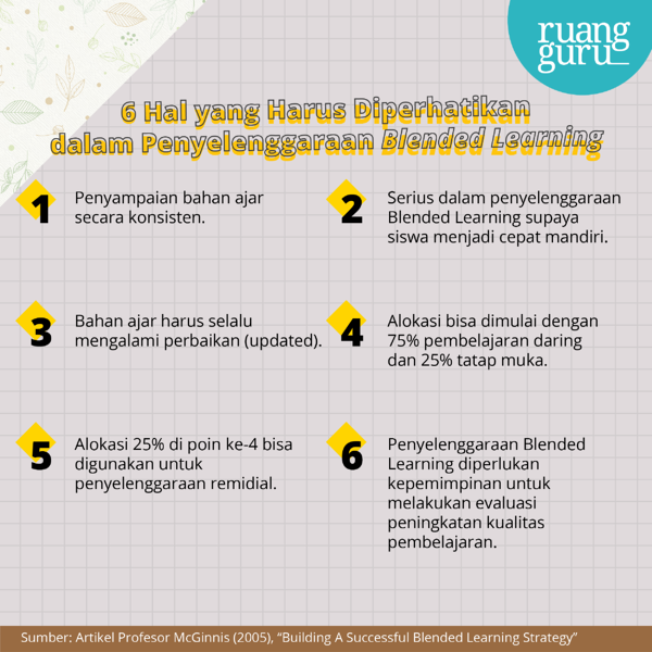 blended learning - 6 hal