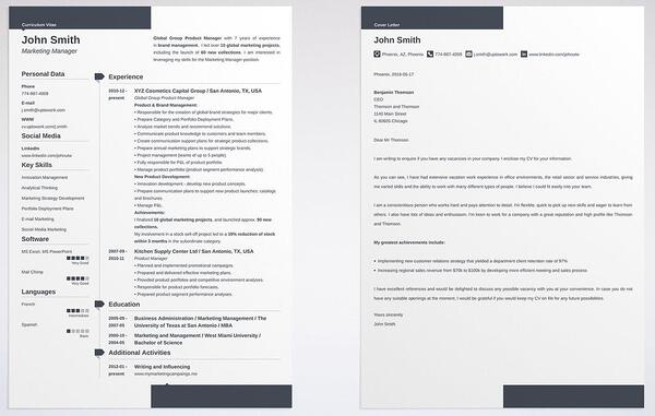 cover letter and resume differences