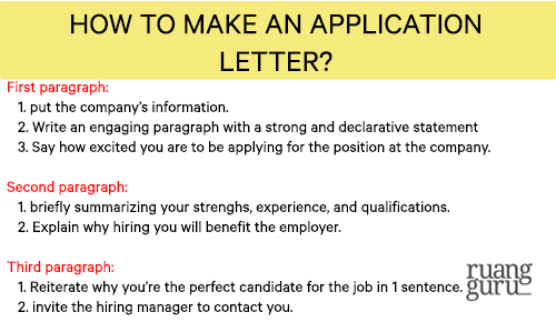 how to make an application letter