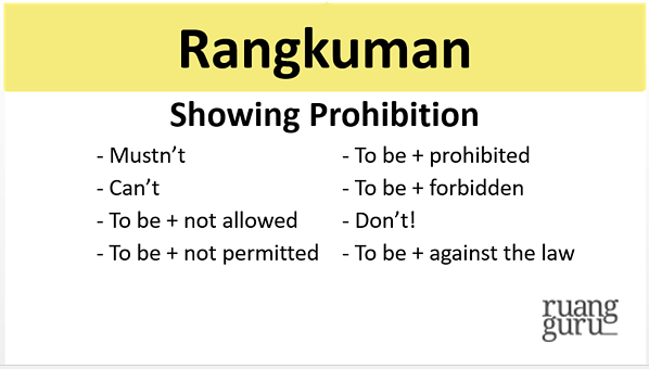 showing prohibition