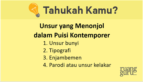 Bahasa Indonesia Kelas 12 Analisis Puisi Kontemporer